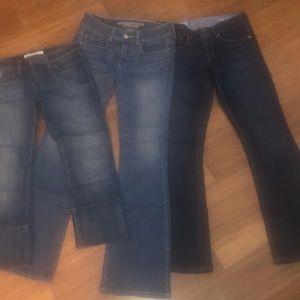 Gap, Joe's, AMERICAN Eagle Jeans